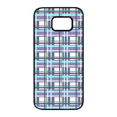 Decorative plaid pattern Samsung Galaxy S7 edge Black Seamless Case