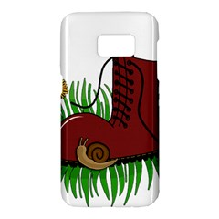 Boot in the grass Samsung Galaxy S7 Hardshell Case