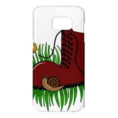 Boot in the grass Samsung Galaxy S7 Edge Hardshell Case