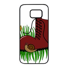 Boot In The Grass Samsung Galaxy S7 Edge Black Seamless Case