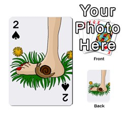 Barefoot in the grass Playing Cards 54 Designs