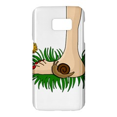 Barefoot in the grass Samsung Galaxy S7 Hardshell Case