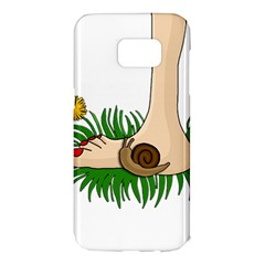 Barefoot in the grass Samsung Galaxy S7 Edge Hardshell Case