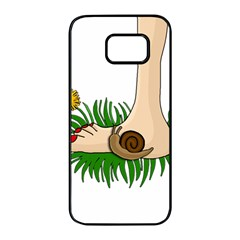 Barefoot In The Grass Samsung Galaxy S7 Edge Black Seamless Case