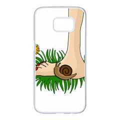 Barefoot in the grass Samsung Galaxy S7 edge White Seamless Case