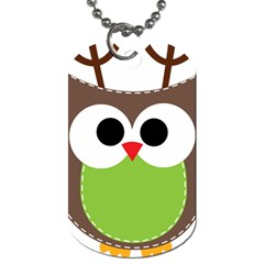 Clip Art Animals Owl Dog Tag (one Side)
