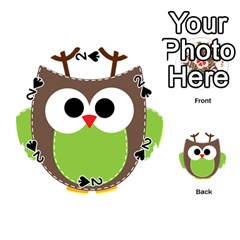 Clip Art Animals Owl Playing Cards 54 (round)