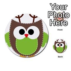 Clip Art Animals Owl Multi-purpose Cards (Round)