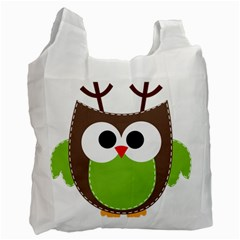 Clip Art Animals Owl Recycle Bag (two Side)