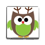 Clip Art Animals Owl Memory Card Reader (Square) Front