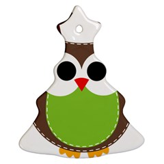 Clip Art Animals Owl Ornament (christmas Tree)