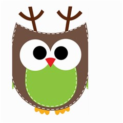 Clip Art Animals Owl Large Garden Flag (two Sides)