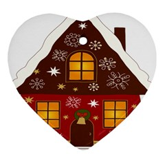 Christmas House Clipart Ornament (heart)
