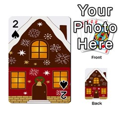 Christmas House Clipart Playing Cards 54 Designs