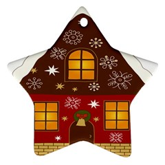 Christmas House Clipart Star Ornament (two Sides)