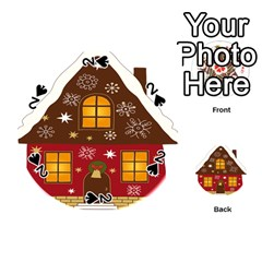 Christmas House Clipart Playing Cards 54 (round)