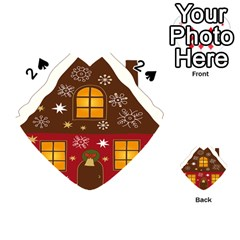 Christmas House Clipart Playing Cards 54 (heart)