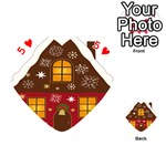 Christmas House Clipart Playing Cards 54 (Heart)  Front - Heart5