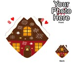 Christmas House Clipart Playing Cards 54 (Heart)  Front - Heart8