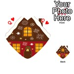 Christmas House Clipart Playing Cards 54 (Heart)  Front - HeartQ