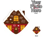 Christmas House Clipart Playing Cards 54 (Heart)  Back