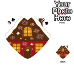 Christmas House Clipart Playing Cards 54 (Heart)  Front - Spade9