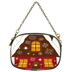 Christmas House Clipart Chain Purses (one Side)