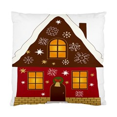 Christmas House Clipart Standard Cushion Case (two Sides)