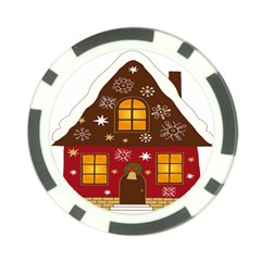 Christmas House Clipart Poker Chip Card Guards (10 Pack)