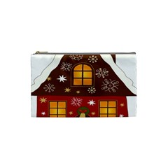 Christmas House Clipart Cosmetic Bag (small)