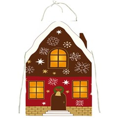 Christmas House Clipart Full Print Aprons