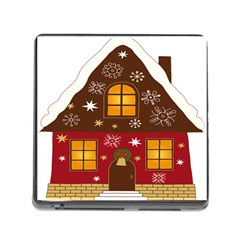 Christmas House Clipart Memory Card Reader (square)