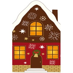 Christmas House Clipart 5 5  X 8 5  Notebooks