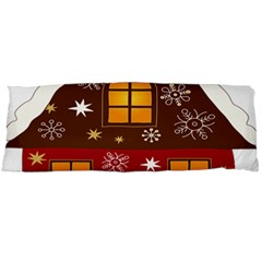 Christmas House Clipart Body Pillow Case Dakimakura (two Sides)