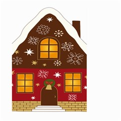 Christmas House Clipart Large Garden Flag (two Sides)