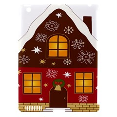 Christmas House Clipart Apple Ipad 3/4 Hardshell Case (compatible With Smart Cover)