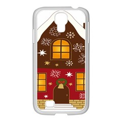 Christmas House Clipart Samsung Galaxy S4 I9500/ I9505 Case (white)