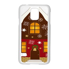 Christmas House Clipart Samsung Galaxy S5 Case (white)