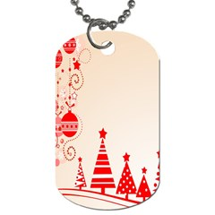 Christmas Clipart Wallpaper Dog Tag (two Sides)