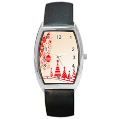 Christmas Clipart Wallpaper Barrel Style Metal Watch