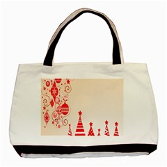 Christmas Clipart Wallpaper Basic Tote Bag (two Sides)