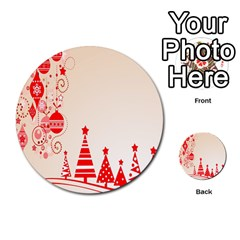 Christmas Clipart Wallpaper Multi Purpose Cards (round)