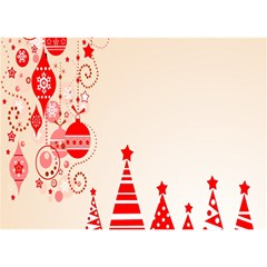 Christmas Clipart Wallpaper Birthday Cake 3d Greeting Card (7x5)