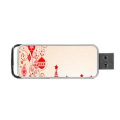 Christmas Clipart Wallpaper Portable Usb Flash (two Sides)