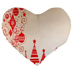 Christmas Clipart Wallpaper Large 19  Premium Heart Shape Cushions