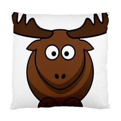 Elk Clip Art Reindeer Raindeer Elk Christmas Xmas Standard Cushion Case (two Sides)