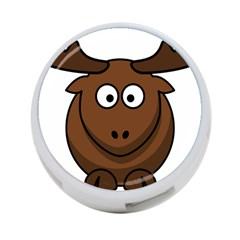 Elk Clip Art Reindeer Raindeer Elk Christmas Xmas 4 Port Usb Hub (two Sides)