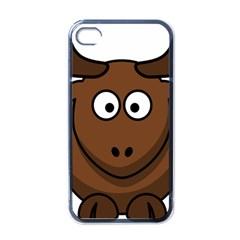 Elk Clip Art Reindeer Raindeer Elk Christmas Xmas Apple Iphone 4 Case (black)