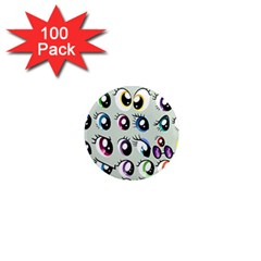 Eyes  Pattern 1  Mini Magnets (100 Pack)