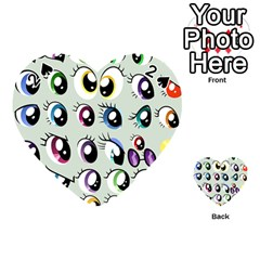 Eyes  Pattern Playing Cards 54 (Heart)